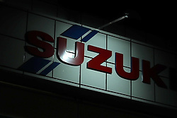 September 28, 2018 - Tokyo, Japan - A view shows a Suzuki car dealership sign in Tokyo, Japan September 28, 2018. Backtracking on its earlier denial, Suzuki Motor Corp. on Sept. 26 disclosed that it falsified exhaust emission and fuel economy test data in more than 2,700 vehicles awaiting shipment. (Credit Image: © Hitoshi Yamada/NurPhoto/ZUMA Press)
