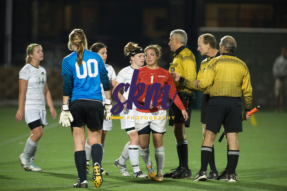 Sixth seeded St. Mary's defeated second seeded Stevenson 2 - 1 in the semifinal round of the 2011 CAC Soccer Championships.