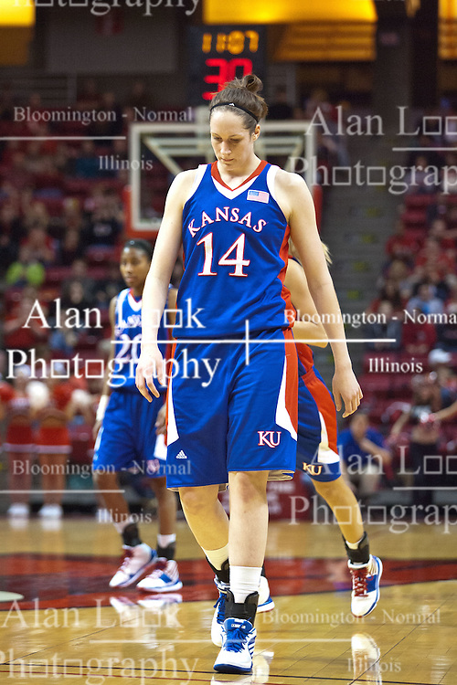 25 March 2010: Krysten Boogaard. The Redbirds of Illinois State crush the Jayhawks of Kansas 71-51 during the 3rd round of the 2010 Women's National Invitational Tournament (WNIT) on Doug Collins Court inside Redbird Arena at Normal Illinois.