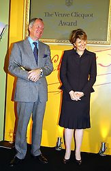 MICHAEL BUERK and CECILE BONNEFOND President Veuve Clicquot Ponsardin Veuve Clicquot Brand Manager at the 2005 Clicquot Award - Business Woman of The Year award ceremony held at Claridge's, Brook Street, London W1 on 28th April 2005.