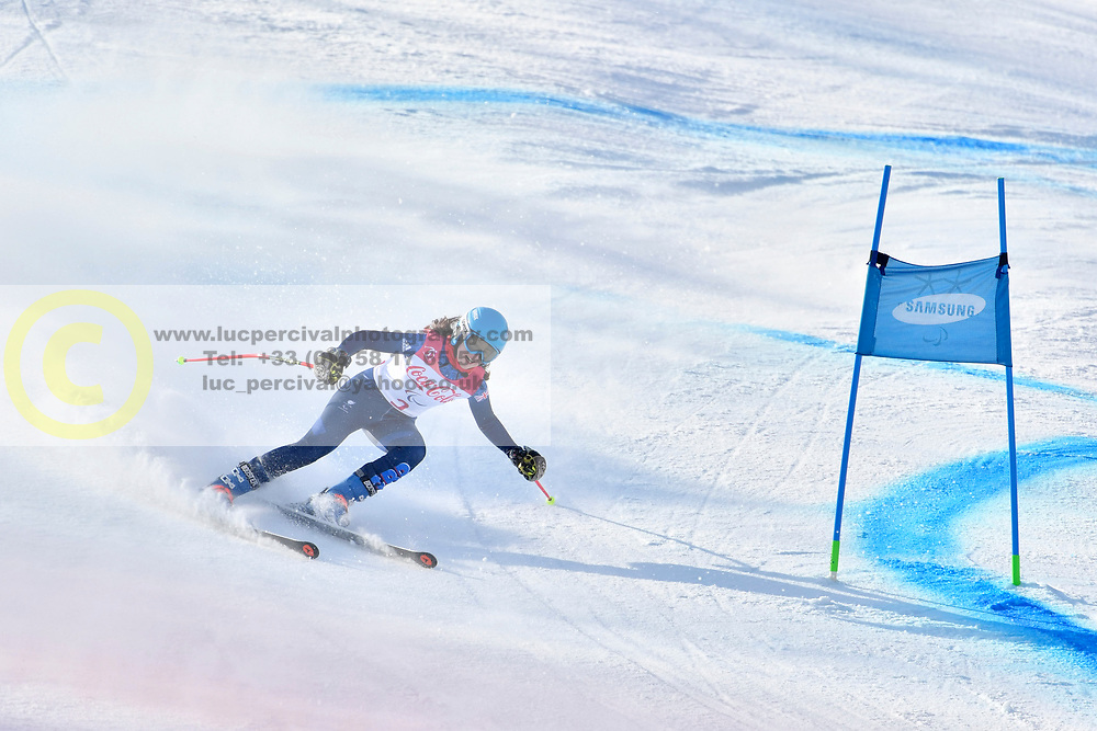 FITZPATRICK Menna B2 GBR Guide: KEHOE Jennifer competing in ParaSkiAlpin, Para Alpine Skiing, Super G at PyeongChang2018 Winter Paralympic Games, South Korea.