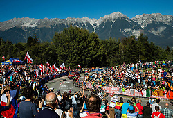 Fans at climb during the Men's Elite Road Race a 258.5km race from Kufstein to Innsbruck 582m at the 91st UCI Road World Championships 2018 / RR / RWC / on September 30, 2018 in Innsbruck, Austria. Photo by Vid Ponikvar / Sportida