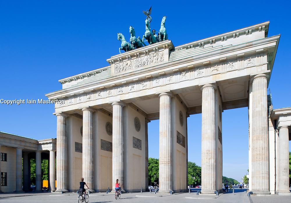 Brandenburg Gate on Unter Den Linden in Mitte Berlin Germany