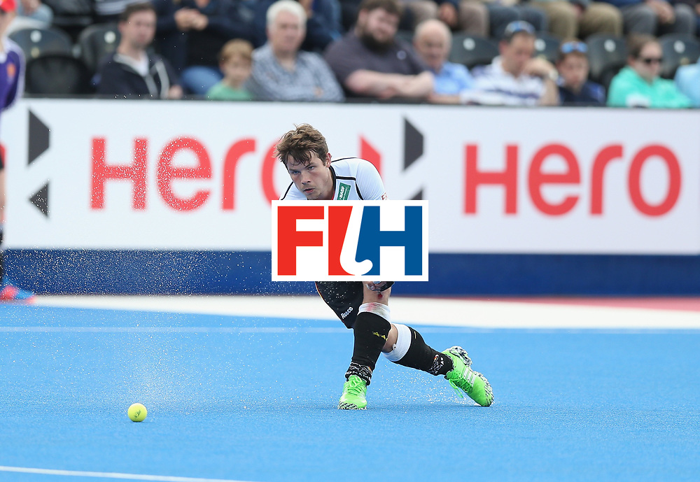 LONDON, ENGLAND - JUNE 16: Plit Arnold of Germany during the FIH Mens Hero Hockey Champions Trophy match between Korea and Germany at Queen Elizabeth Olympic Park on June 16, 2016 in London, England.  (Photo by Alex Morton/Getty Images)
