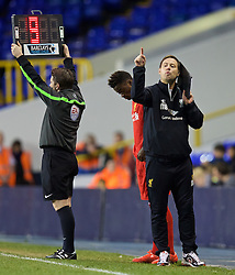 LONDON, ENGLAND - Friday, April 17, 2015: Liverpool's manager Michael Beale during the Under 21 FA Premier League match against Tottenham Hotspur at White Hart Lane. (Pic by David Rawcliffe/Propaganda)
