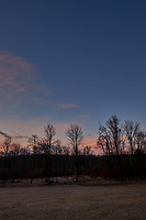 Winter Backyard Dawn Sky in New Jersey. Image 8 of 8 taken with a Fuji X-T1 camera and 16 mm f/1.4 lens (ISO 200, 16 mm, f/8, 1/60 sec). Raw images processed with Capture One Pro and the composite generated using AutoPano Giga Pro.