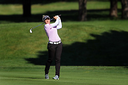 June 14, 2018 - Belmont, Michigan, United States - Brooke Henderson of Smith Falls, Ontario hits toward the 8th green from the fairway during the first round of the Meijer LPGA Classic golf tournament at Blythefield Country Club in Belmont, MI, USA  Thursday, June 14, 2018. (Credit Image: © Amy Lemus/NurPhoto via ZUMA Press)