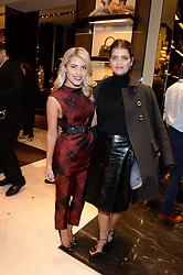 Left to right, MOLLIE KING and PIXIE GELDOF at a party hosted by Gucci & Clara Paget to drink a new cocktail 'I Bamboo You' held at Gucci, 34 Old Bond Street, London on 16th October 2013.