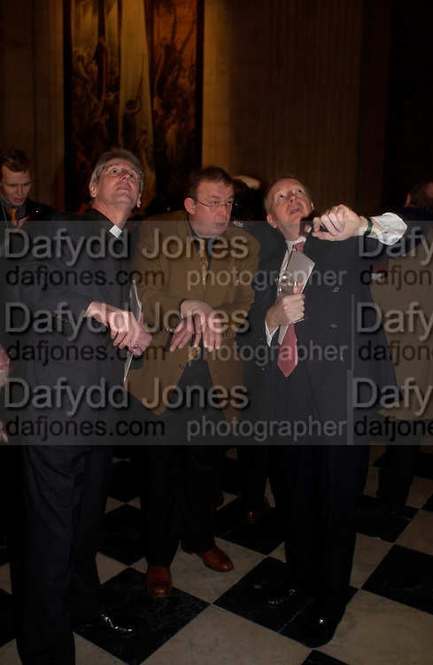 Canon Philip Buckler, Sergei Chepik and Godfrey Barker.  Sergei Chepik: St Paul's Cathedral - opening<br />