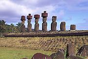 Ahu Nau Nau, Easter Island, Chile<br />