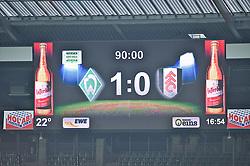 "28.07.2013, Weserstadion, Bremen, GER, 1.FBL, ""Tag der Fans 2013"" des SV Werder Bremen, Testspiel SV Werder Bremen vs Fulham FC, im Bild die Anzeigetafel mit dem Endstand // during the ""Tag der Fans 2013"" of the German Bundesliga Club SV Werder Bremen at the Weserstadion, Bremen, Germany on 2013/07/28. EXPA Pictures © 2013, PhotoCredit EXPA Andreas Gumz ***** ATTENTION - OUT OF GER *****"
