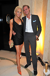 SEBASTIAN & CLARE VAN DAM at a dinner in honour of Dennis Basso in celebration of his new boutique in Harrods held at Claridge's, Brook Street, London on 15th October 2009.