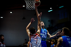 Dusanic Maj of Slovenia during basketball match between National teams of Turkey and Slovenia in the SemiFinal of FIBA U18 European Championship 2019, on August 3, 2019 in Nea Ionia Hall, Volos, Greece. Photo by Vid Ponikvar / Sportida