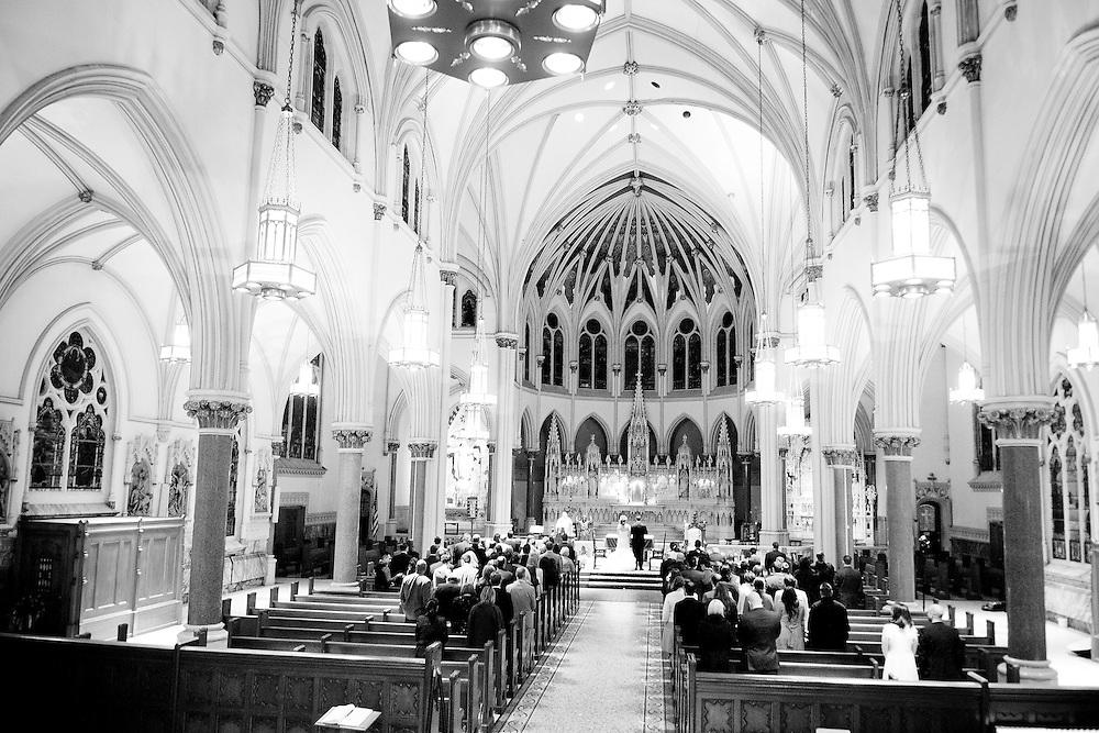 The ceremony at Erin and Joe's Brooklyn Wedding.