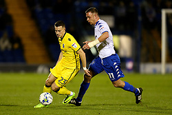 Billy Bodin of Bristol Rovers takes on Tom Pope of Bury - Mandatory by-line: Matt McNulty/JMP - 14/03/2017 - FOOTBALL - Gigg Lane - Bury, England - Bury v Bristol Rovers - Sky Bet League One