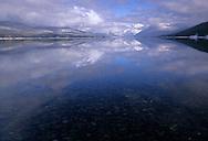 Lake McDonald in winter. Glacier National Park, Montana