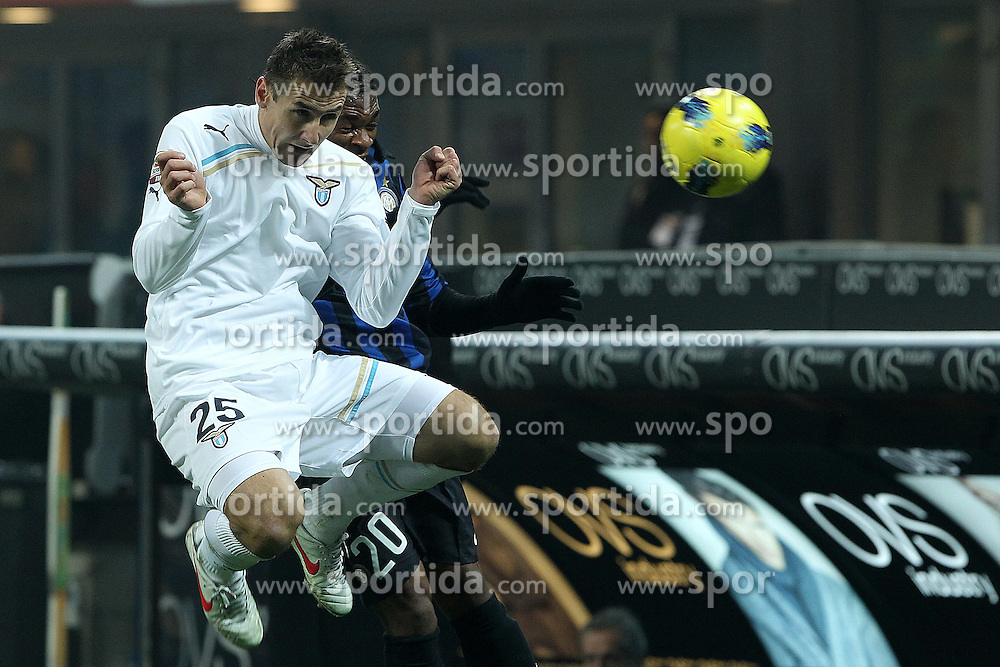 22.01.2012, Stadion Giuseppe Meazza, Mailand, ITA, Serie A, Inter Mailand vs Lazio Rom, 19. Spieltag, im Bild Miroslav Klose Lazio, the football match of Italian 'Serie A' league, 19th round, between Inter Mailand and Lazio Rom at Stadium Giuseppe Meazza, Milan, Italy on 2012/01/22. EXPA Pictures © 2012, PhotoCredit: EXPA/ Insidefoto/ Paolo Nucci..***** ATTENTION - for AUT, SLO, CRO, SRB, SUI and SWE only *****
