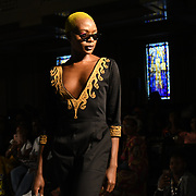 Designer WB Collection showcases its latest collection at the Africa Fashion Week London (AFWL) at Freemasons' Hall on 11 August 2018, London, UK.
