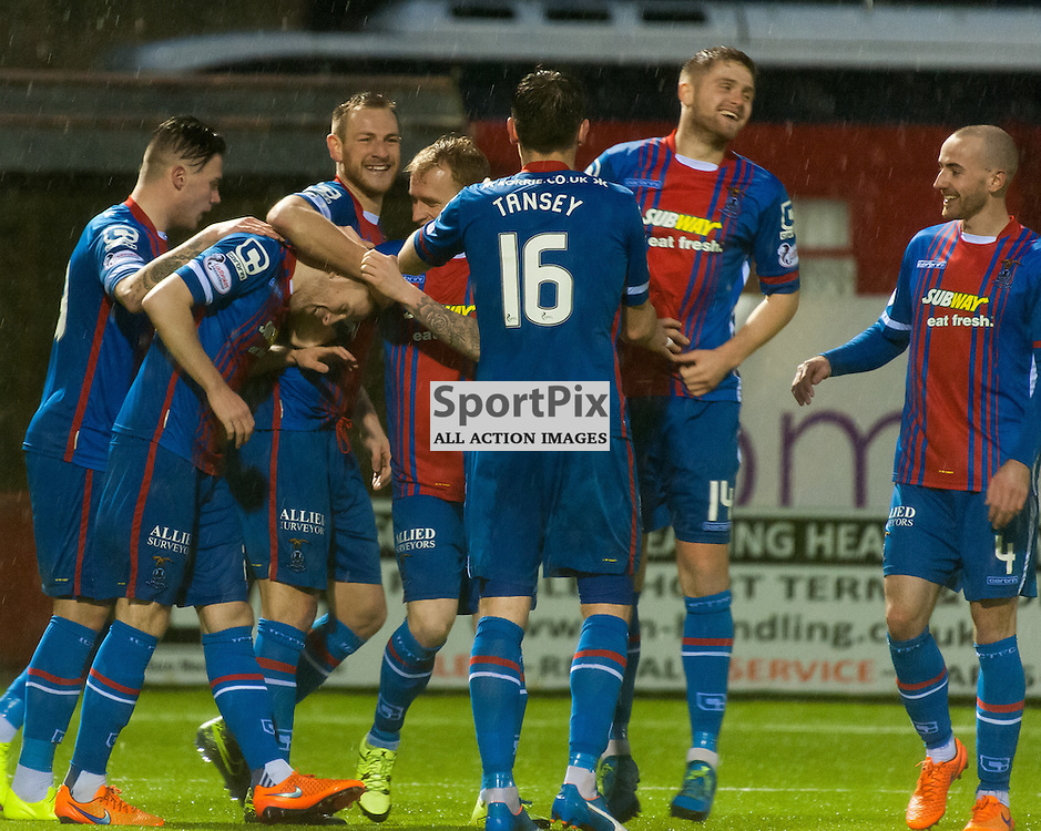 Inverness Caledonian Thistle celebrations for #20 Liam Polworth's early second half goal • Hamilton Academical v Inverness Caledonian Thistle • SPFL Premiership • 30 December 2015 • © Russel Hutcheson | SportPix.org.uk