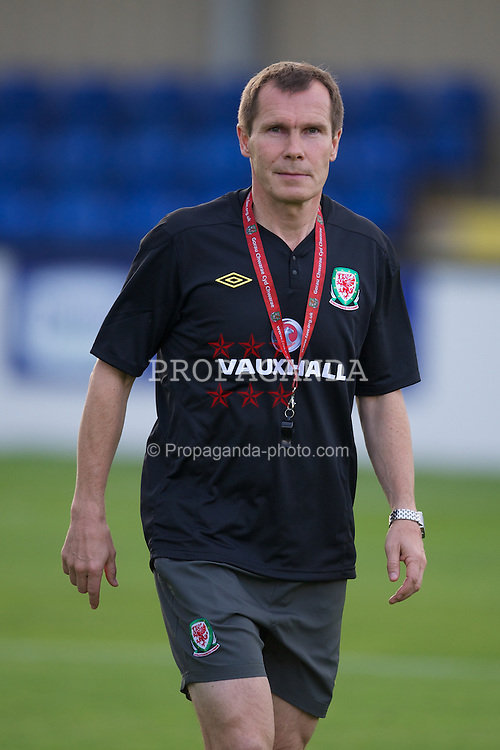 BROUGHTON, WALES - Friday, September 9, 2011: Wales' manager Jarmo Matikainen against Denmark during an international friendly women's Under-17 match at the Airfield. (Pic by David Rawcliffe/Propaganda)