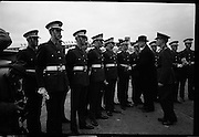 President Eamon De Valera and Irish Cadets leave for President Kennedy's funeral in Washington. <br /> 24.11.1963