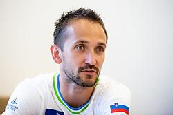 Saso Bertoncelj at press conference before European Championship 2018 Glasgow, on July 26, 2018 in Gimnasticna dvorana, Ljubljana, Slovenia. Photo by Matic Klansek Velej / Sportida