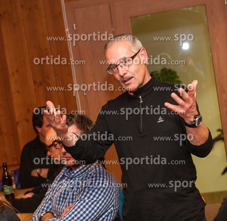 27.12.2013, Dolomitenhuette, Tristach, AUT, FIS Weltcup Ski Alpin, Lienz, Abendessen Dolomitenhuette, im Bild OK-Chef Werner Froemmel // during press dinner at Dolomitenhuette for Ladies Skiworldcup at Hauptplatz, Tristach, Austria on 2013-12-27, EXPA Pictures © 2013 PhotoCredit: EXPA/ Michael Gruber