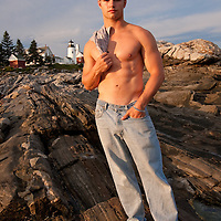 Athlete on Pemaquid Point, Maine