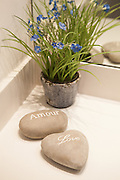 Love rocks romantic Pebbles Stones in spa