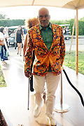 Water Mill, New York: Visual Artist Danny Simmons attends the RUSH Philanthropic Arts Foundation 15th Annual Art For Life Benefit Gala held in the Hamptons at the Farmview Farms on July 26, 2014  in Water Mill, New York. (Terrence Jennings)