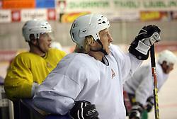 Tomaz Vnuk at second ice hockey practice of HDD Tilia Olimpija on ice in the new season 2008/2009, on August 19, 2008 in Hala Tivoli, Ljubljana, Slovenia. (Photo by Vid Ponikvar / Sportal Images)