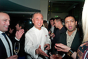nobu matsuhisa; RAVI CHOPRA;, Nobu anniversary party. Met Bar, 19 Old Park Lane, London, 7 March 2012.