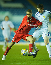 LEEDS, ENGLAND - Tuesday, December 2, 2008: Liverpool's Thomas Ince in action against Leeds United during the FA Youth Cup 3rd Round at Elland Road. (Photo by David Rawcliffe/Propaganda)