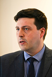 Pictured: Jamie Hepburn<br /> <br /> Employability Minister Jamie Hepburn was in Edinburgh today and met members of employability project before heading to the Scottish Parliament where he will make a speech announcing a plan for integration 'No one left behind.<br /> <br /> Ger Harley | EEm 27 March 2018