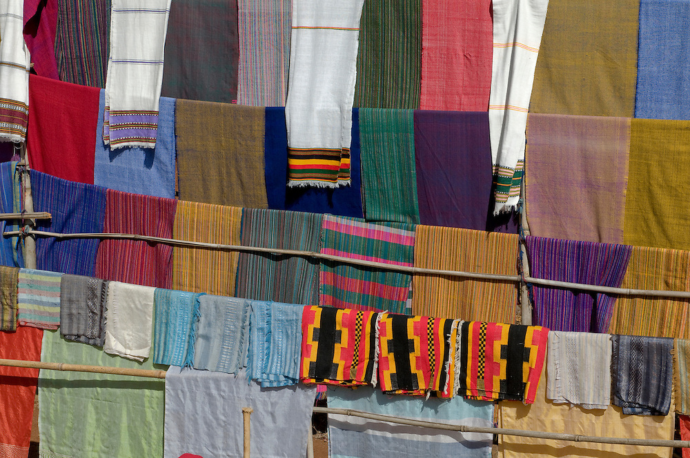 Sheets for sale, Dorze, Omovalley,Ethiopia,Africa