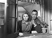 Ingrid Bergman (1917-1982) Swedish film and stage actress, with Humphrey Bogart (1899-1957). Still from 'Casablanca', 1942. Based on the play 'Everybody Goes to Rick's' by Murray Burnett and Joan Alison.