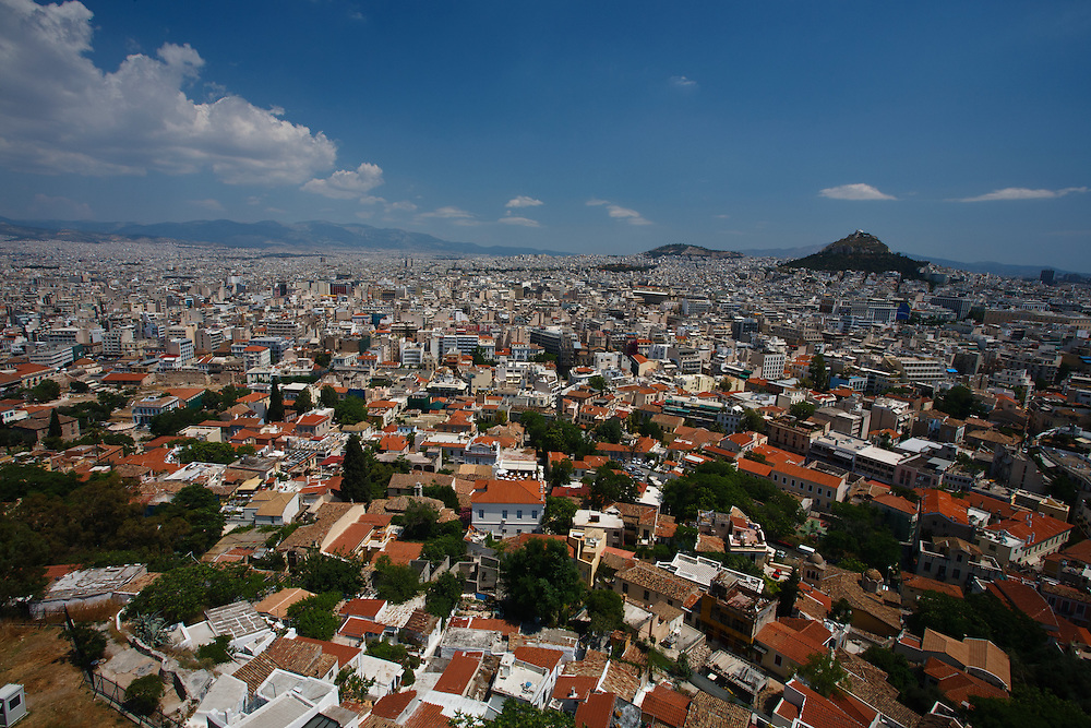 Sweeping view of Athens from the Akropolis