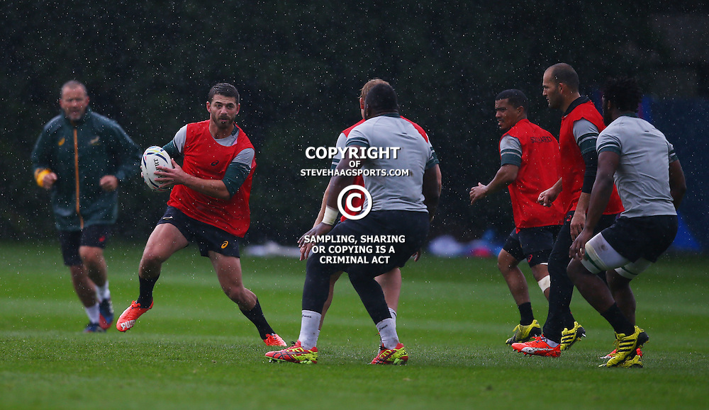 EASTBOURNE, ENGLAND - SEPTEMBER 16: Willie le Roux during the South African Springboks training session at Eastbourne College on September 16, 2015 in Eastbourne, England. (Photo Steve Haag Emirates)