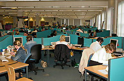 Workers at bank call centre due to be outsourced to India making UK staff redundant North East England 2004