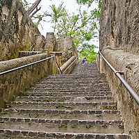 THE QUEENS STAIRCASE aka 66 STEPS - TRAVEL STOCK PHOTOS OF THE BAHAMAS
