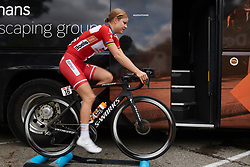 Amalie Dideriksen (DEN) warms up at Ladies Tour of Norway 2018 Stage 1, a 127.7 km road race from Rakkestad to Mysen, Norway on August 17, 2018. Photo by Sean Robinson/velofocus.com