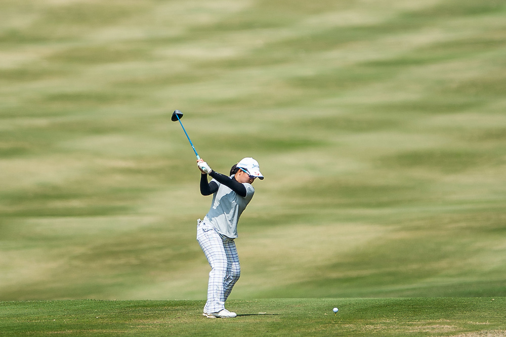 Nasa Hataoka of Japan in action during day two of the 10th Faldo Series Asia Grand Final at Faldo course on 03 March of 2016 in Shenzhen, China. Photo by Xaume Olleros.