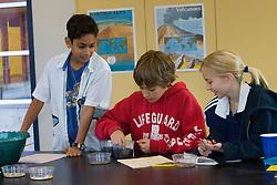 United States, Washington, Bellevue, children at school