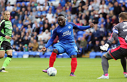 Junior Morias of Peterborough United scores his sides second goal of the game - Mandatory by-line: Joe Dent/JMP - 05/08/2017 - FOOTBALL - ABAX Stadium - Peterborough, England - Peterborough United v Plymouth Argyle - Sky Bet League One