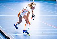 AMSTERDAM -  Yibbi Jansen (Oranje Rood)   tijdens de Hoofdklasse Zaalhockey competitie tegen Groningen. . COPYRIGHT KOEN SUYK