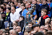 John Westwood rings the bell for Portsmouth during the EFL Trophy Final match between Portsmouth and Sunderland at Wembley Stadium, London, England on 31 March 2019.