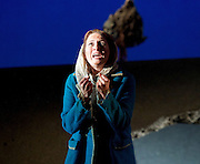 The Siege of Calais <br /> English Touring Opera at Hackney Empire, London, Great Britain <br /> rehearsal <br /> 2nd March 2015 <br /> <br /> music by Dinizetti <br /> words by Salvatore Cammarano <br /> directed by James Conway <br /> <br /> <br /> Paula Sides as Eleonora<br /> <br /> <br /> Photograph by Elliott Franks <br /> Image licensed to Elliott Franks Photography Services