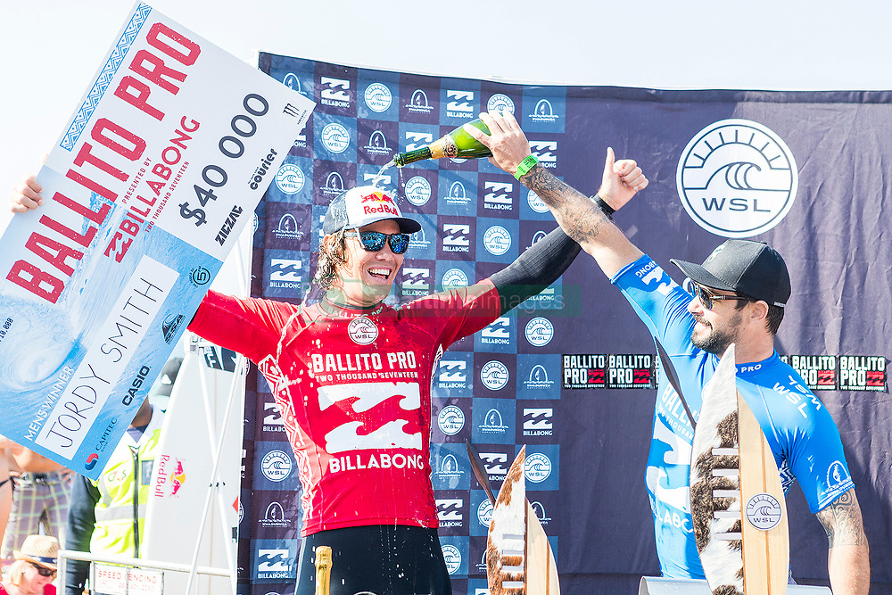 Jul 7, 2017 - KwaDukuza, South Africa - World No.3 Jordy Smith of South Africa has won The Ballito Pro presented by Billabong for the second time in his career at Willard Beach, Ballito, South Africa.  Smith defeated Willian Cardoso of Brazil in the final to claim the illustrious title of Ballito Pro Champion and US$40,000 in prizemoney (Credit Image: © Kelly Cestari via ZUMA Wire)