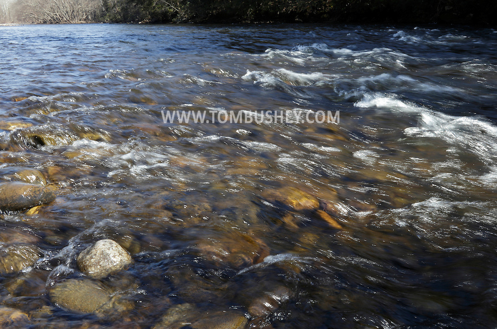 Godeffroy, New York - The Neversink River flows throughout the Neversink Preserve of the Nature Conservancy on March 7, 2012.