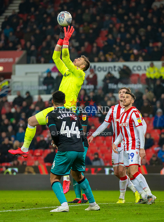 STOKE-ON-TRENT, ENGLAND - Saturday, January 25, 2020: Stoke City's goalkeeper Jack Butland during the Football League Championship match between Stoke City FC and Swansea City FC at the Britannia Stadium. (Pic by David Rawcliffe/Propaganda)